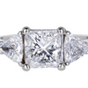 2.02 ct. Princess Cut 3 Stone Ring #3