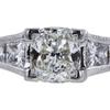 0.90 ct. Cushion Cut Bridal Set Ring, I, VS2 #4