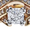 0.91 ct. Cushion Cut Bridal Set Ring, F, VS2 #3