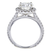 1.73 ct. Round Cut Halo Ring, I-J, I3 #3
