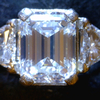 1.47 ct. Emerald Cut 3 Stone Ring #4