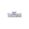 0.91 ct. Princess Cut Bridal Set Ring, F, SI2 #3