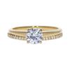 0.68 ct. Round Cut Bridal Set Ring, G, VS2 #3