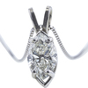 1.16 ct. Marquise Cut Pendant Necklace, J, SI2 #4