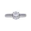 1.0 ct. Oval Cut Solitaire Ring, D, SI1 #3