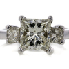 2.14 ct. Princess Cut 3 Stone Ring #1