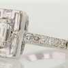 0.89 ct. Emerald Cut Halo Ring #4