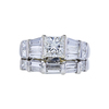 1.05 ct. Princess Cut Bridal Set Ring, I, SI2 #3