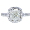 3.02 ct. Cushion Cut Halo Ring, L, SI1 #3