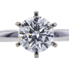 1.00 ct. Round Cut Solitaire Ring, F, SI2 #4