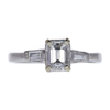 0.73 ct. Emerald Cut 3 Stone Ring, F, VVS2 #3