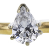 0.47 ct. Pear Cut Solitaire Ring, E-F, SI1-SI2 #1