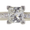 1.0 ct. Princess Cut Bridal Set Ring, K, SI1 #4