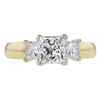 1.01 ct. Princess Cut 3 Stone Ring #1