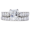 1.51 ct. Radiant Cut Bridal Set Ring, F, VS2 #1