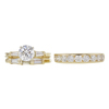 1.02 ct. Round Cut Bridal Set Ring, E, SI1 #4