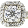 0.73 ct. Round Cut Bridal Set Ring, F, SI2 #4