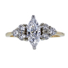 0.93 ct. Marquise Cut Central Cluster Ring, E, SI1 #3