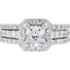 1.01 ct. Cushion Modified Cut Bridal Set Ring, H, SI2 #3