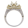 1.0 ct. Round Cut Bridal Set Ring, G, IF #4