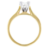 0.75 ct. Princess Cut Solitaire Ring, F, IF #3