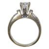 1.28 ct. Princess Cut Bridal Set Ring, F, SI2 #4