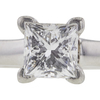 0.95 ct. Princess Cut Bridal Set Ring, F-G, VS1 #1