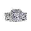 0.91 ct. Princess Cut Bridal Set Ring, F-G, I1 #2