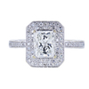 1.08 ct. Radiant Modified Cut Halo Ring, H, VVS1 #3