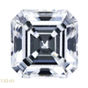 1.51 ct. Asscher Cut 3 Stone Ring, G, VS1 #1