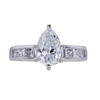 1.00 ct. Pear Cut Solitaire Ring, E, SI1 #3