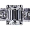 0.77 ct. Emerald Cut Bridal Set Ring, G, VS2 #4
