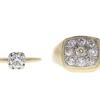 0.5 ct. Round Cut Bridal Set Ring, H-I, SI2-I1 #2