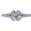 0.74 ct. Round Cut Solitaire Ring, H, SI2 #3
