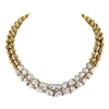 18K Yellow Gold Collar with Cultured Mabe Pearls and Diamonds #1
