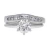 1.01 ct. Round Cut Bridal Set Ring, L-M, SI1 #2