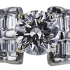 1.01 ct. Round Cut Central Cluster Ring, K, VS1 #4