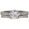 0.93 ct. Round Cut Bridal Set Ring, D, VVS2 #3