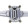 1.00 ct. Emerald Cut 3 Stone Ring #2