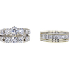0.72 ct. Round Cut Bridal Set Ring, G, SI2 #2