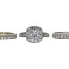 0.91 ct. Princess Cut Bridal Set Ring, F-G, SI2 #2