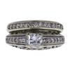 0.66 ct. Princess Cut Bridal Set Ring, F-G, VS2 #2