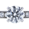 0.84 ct. Round Cut Bridal Set Ring, F, SI1 #4