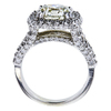 2.53 ct. Round Cut Halo Ring, L, VS1 #3