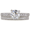 1.21 ct. Round Cut Bridal Set Ring, G, I1 #3