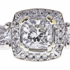 0.95 ct. Radiant Cut 3 Stone Ring, G, SI1 #4