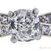 1.01 ct. Cushion Cut Bridal Set Ring, E, SI1 #4