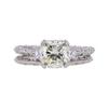 1.76 ct. Cushion Cut Bridal Set Ring, M, VS1 #3