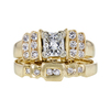 0.90 ct. Princess Cut Bridal Set Ring, I, VS2 #4