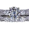 1.14 ct. Round Cut Bridal Set Ring, H, VS2 #3